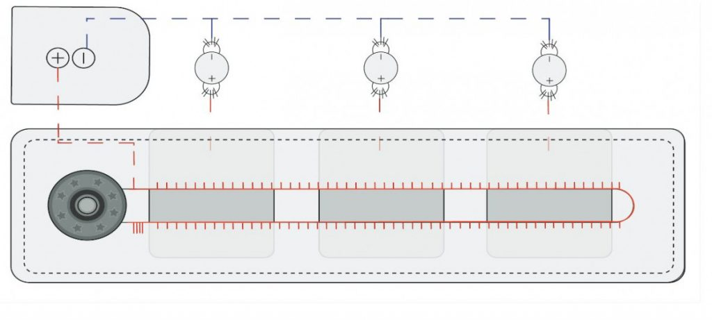 Schematic drawing of the slider swatch